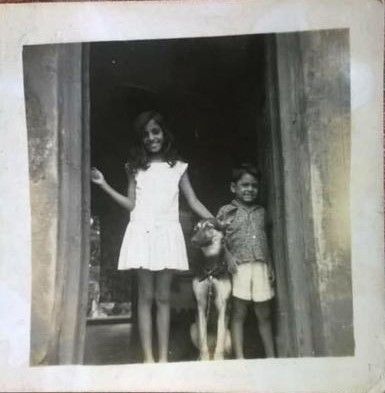 Julie with my youngest aunt & uncle (Circa 1965)
